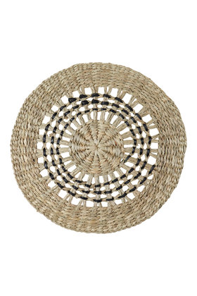 Wicker Placemat Woven Black