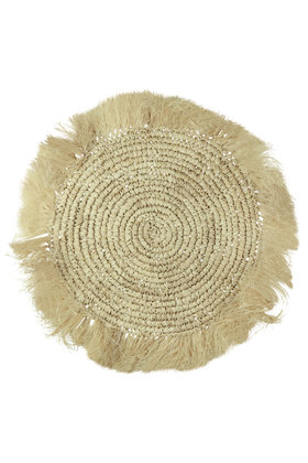 Wicker Placemat Fringes Natural