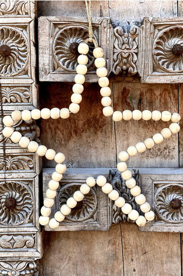 Deco Star Wooden Beads Natural