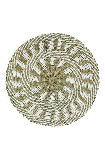 Wicker Placemat Sun White