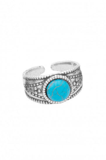 Ring Calliope Pierre Zilver Turquoise