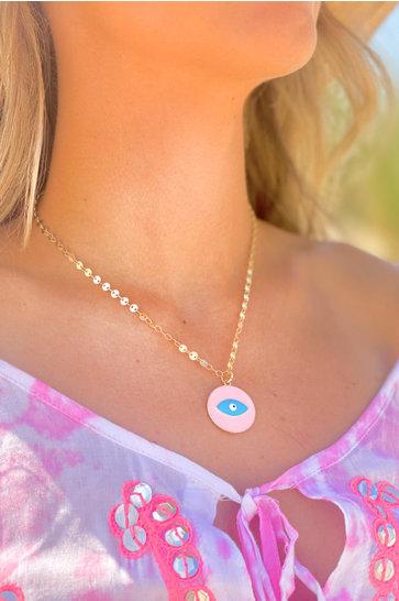Necklace Eyes Aqua