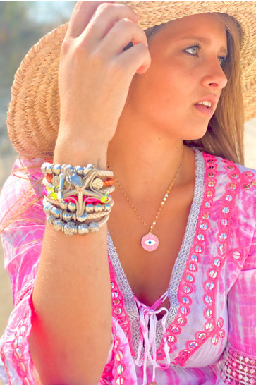 Necklace Eyes Pink