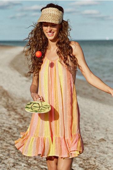 Kurzes Kleid Alice Mix Pfirsich