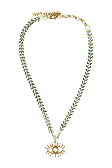 Collier Oeil Or