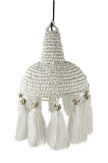 Lampe Palmier Herbe Coquille Blanc