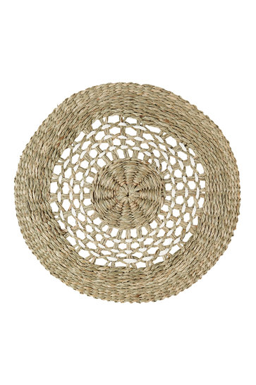 Wicker Placemat Woven White