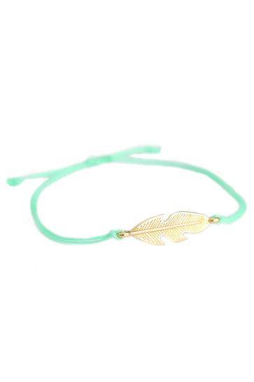 Bracelet Plume Menthe