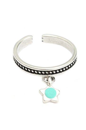 Ring Turquoise Star Zilver