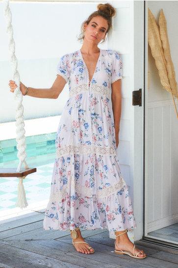 Vestido largo Semira Huntley Lilac