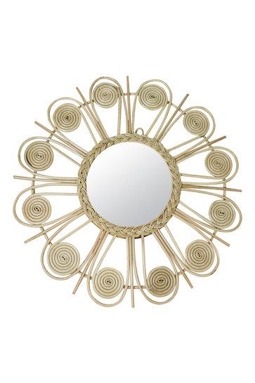 Spiegel Rattan Sonne