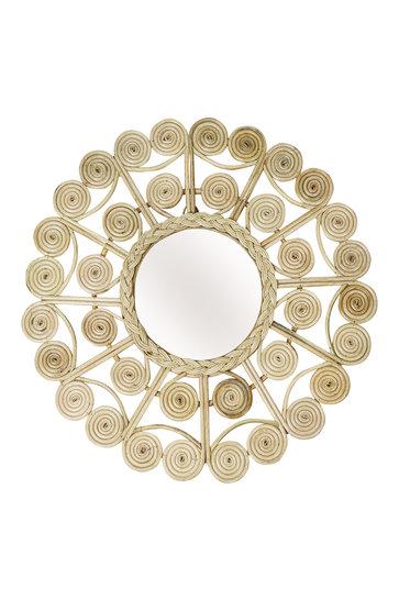 Mirror Rattan Round