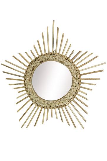 Espejo Madera Sol