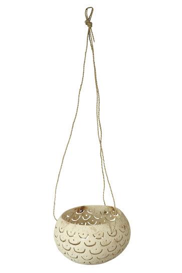 Hanging Mood Light Holder Mula Titi Ecru