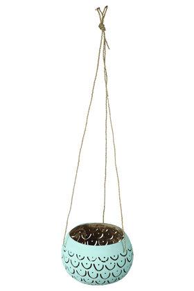 Hangende Sfeerlichthouder Mula Titi Turquoise