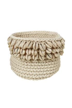 Panier Crochet Coquillages Naturel