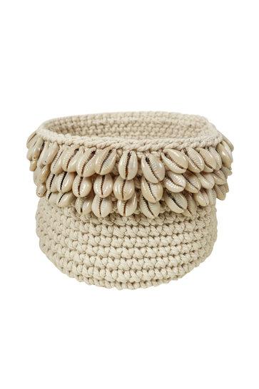Basket Crochet Shells Natural