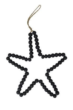 Deco Star Wooden Beads Black