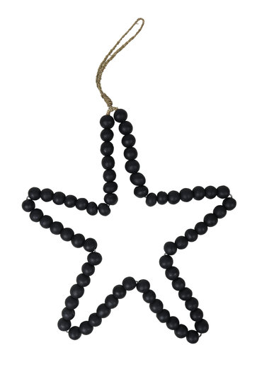 Déco Star Perles Bois Noir