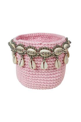 Basket Beads Bali Pink