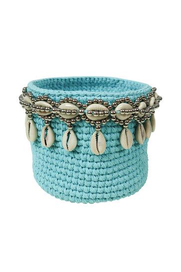 Panier Perles Bali Turquoise