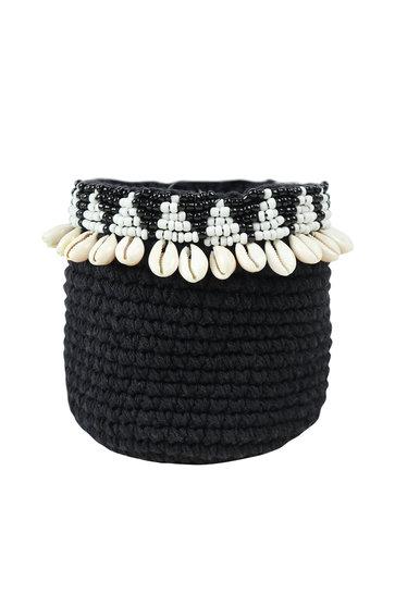Basket Aztec Shell Black