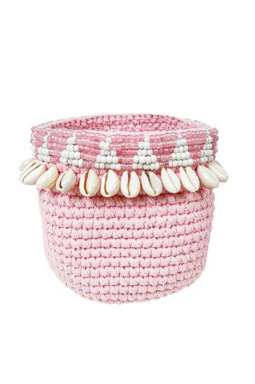 Basket Aztec Shell Pink