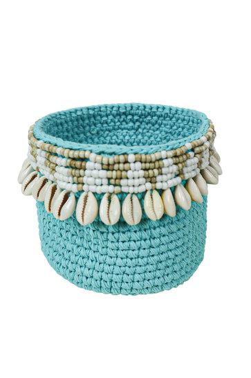 Basket Aztec Shell Turquoise