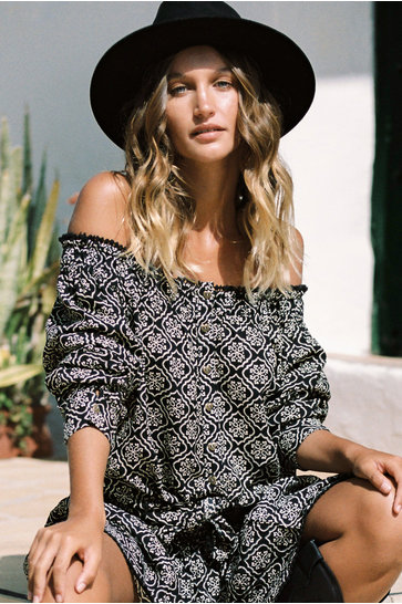 Bluse Indian With Love Schwarz