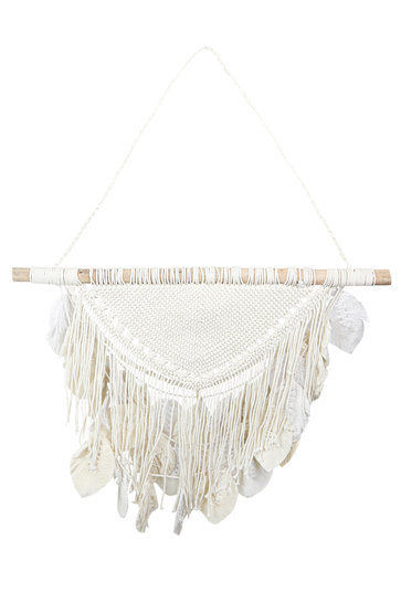 Macrame Feathers Natural Wit