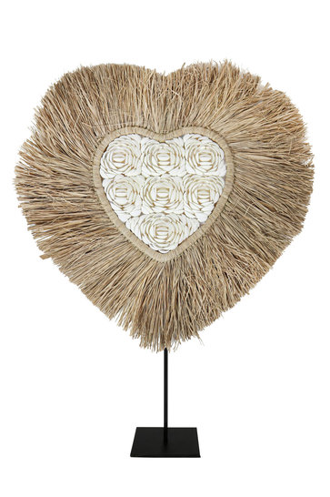 Wall Hanger Heart Shell On Stand