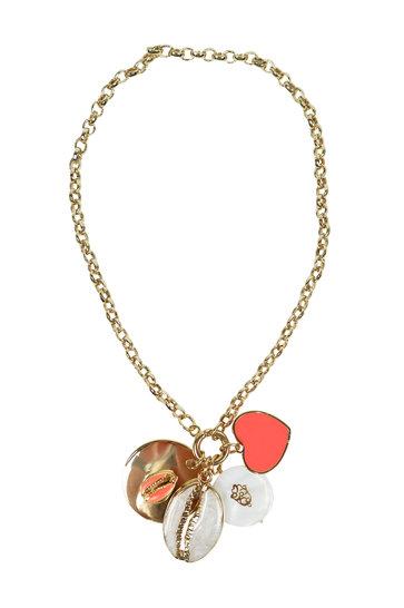 Halskette Liebesmuschel Pfirsich