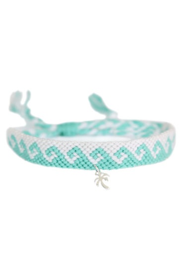 Anklet Cotton Waves Turquoise