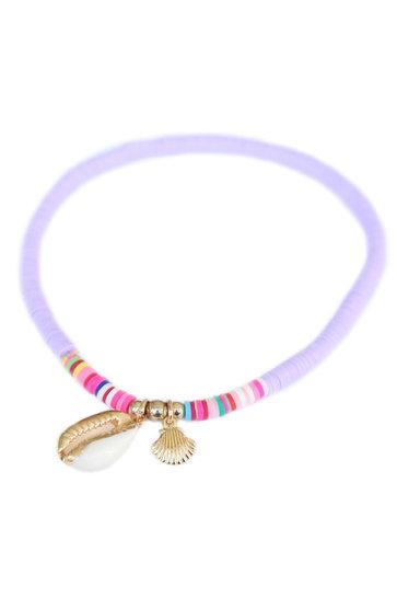 Bracelet de cheville Surf Club Lilas