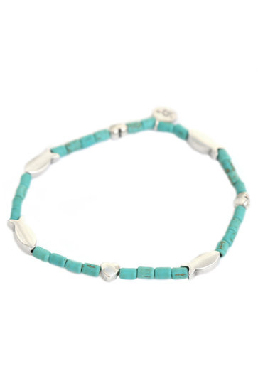 Anklet Heart To Fish Aqua