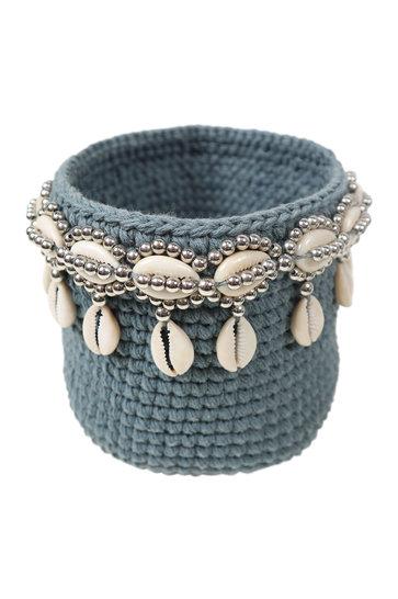 Basket Beads Bali Gray