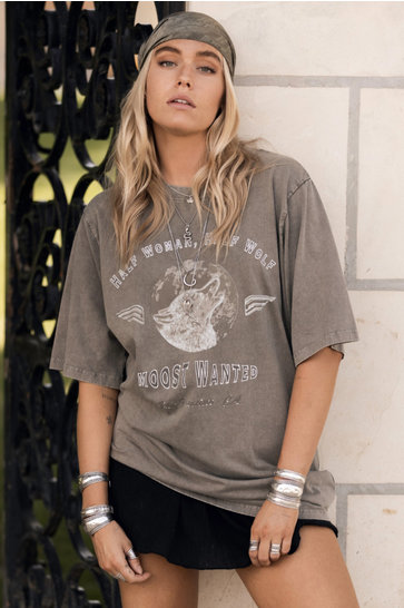 T-shirt Wolf Pack Stone Taupe