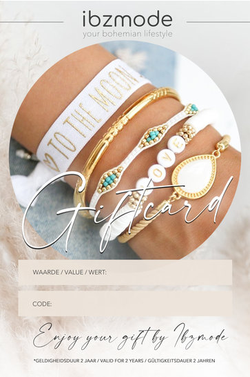Gift voucher from € 25, - to € 250, - Ibzmode Jewelry