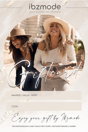 Gift certificate from € 25 to € 250 Ibzmode Fashion