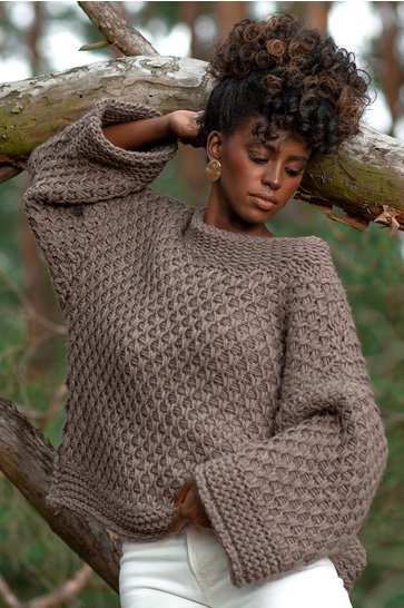 Knitted Sweater Chunky Mocha