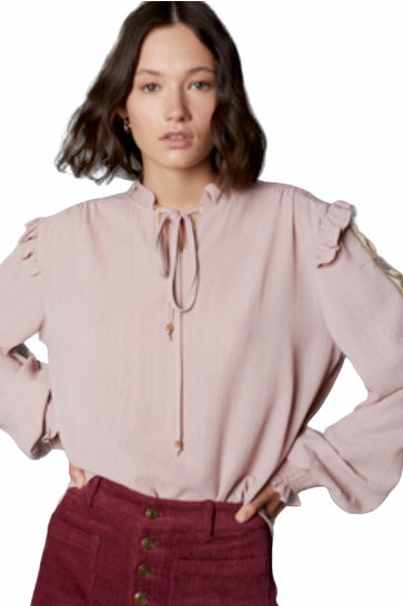 Blouse Volante Old Pink