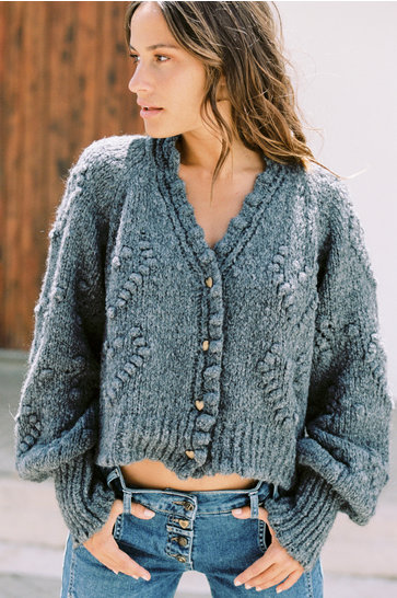 Cardigan Hearts Anthracite