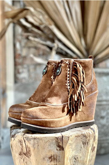 Ankle boots Wedge heel Florida Brown