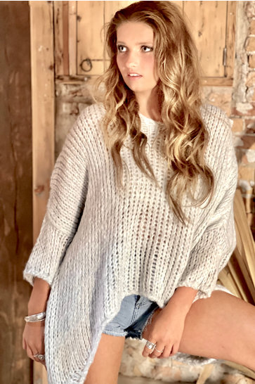 Sweater Knitted Light Gray