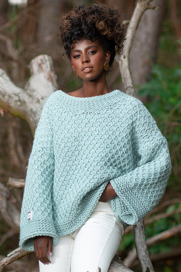 Knitted Sweater Chunky Mint