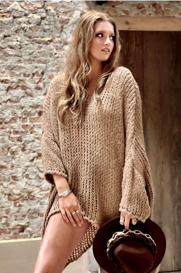 Sweater Knitted Brown