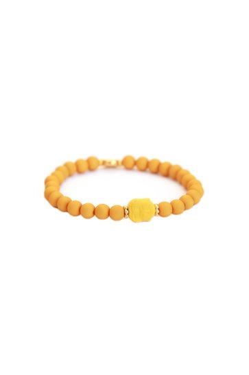 Armband Buddha Okergeel
