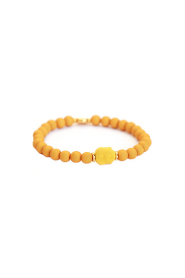 Bracelet Buddha Ocher yellow
