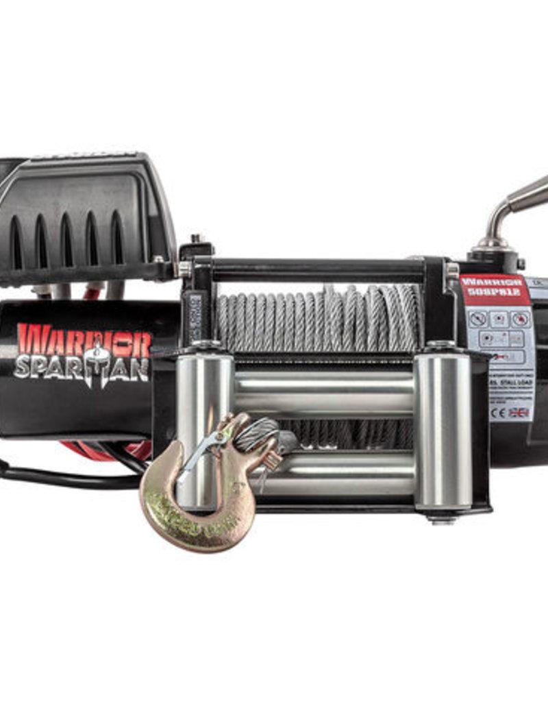 Warrior Spartan 5000 12 volt met staalkabel