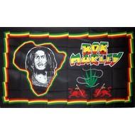 Vlag Bob Marley Africa vlag